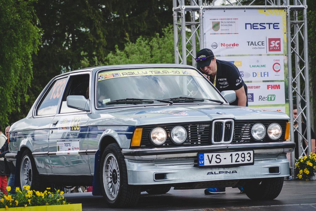 BMW Alpina on a start line